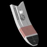 Долото культиватора Farmet с твердым сплавом BDF 2317C